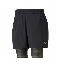 Shorts Run Graphic 2IN1 negro, camuflado