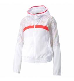 Chaqueta Run Graphic Hooded blanco