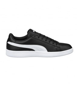 Zapatillas de piel Puma Smash v2 L negro