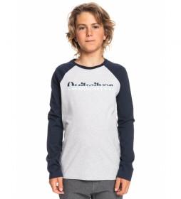 Camiseta Primary Colours gris, marino