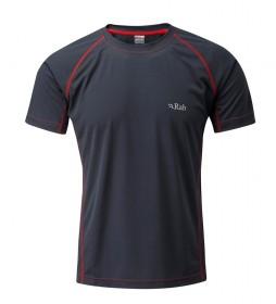 Rab Camiseta Interval gris / Polygiene / FPS 35