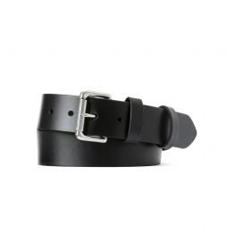 Cinturón de piel Roller Casual negro