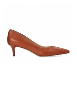 Zapatos de piel Adrienne marrón -Altura tacón: 5 cm-