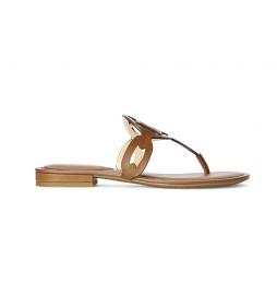 Sandalias de piel Audrie marrón