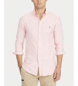Camisa Oxford Slim Fit rosa