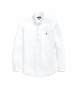 Camisa popelín slim fit blanco