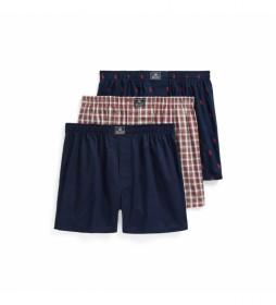 Pack de 3 Boxers 714830273005 azul, rojo