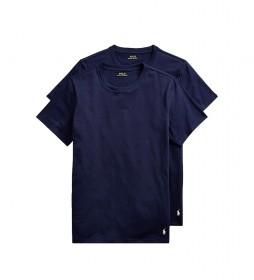 Pack de 2 Camisetas Classic Crew Undershit marino