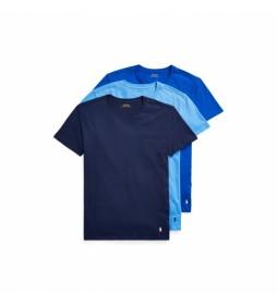 Pack de 2 Camisetas Interiores Crew azul