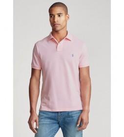 Polo de piqué Custom Slim Fit rosa