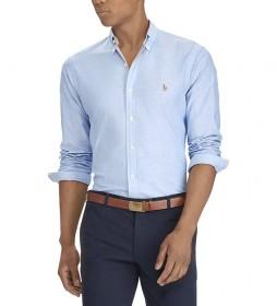 Camisa Oxford Slim Fit azul