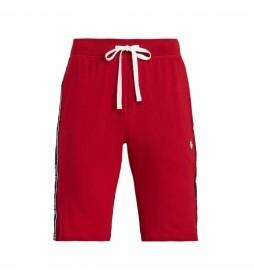 Shorts Slim Sleep Bottom rojo