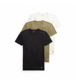 Pack de 2 Camisetas Interiores Crew blanco, verde, marino