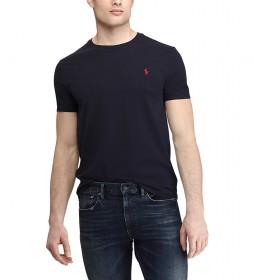 Camiseta  de Algodón SSCNM2 Ajustada marino