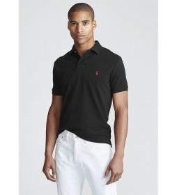 Polo de piqué Custom Slim Fit negro