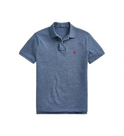 Polo Custom Slim Fit azul
