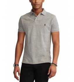Polo Custom Slim Fit gris