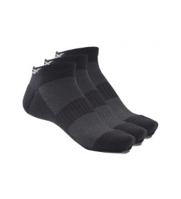 Pack de 3 Calcetines  tobilleros Active Foundation negro