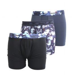 Pack de 3 Boxers Trunk Nathan negro, marino