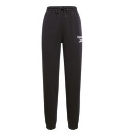 Pantalón Identity logo Fleece negro