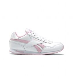 Zapatillas de piel Royal Classic Jogger 3.0 blanco, rosa