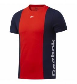 Camiseta Training Essentials Linera Logo marino, rojo