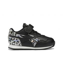 Zapatillas Royal Classic Jogger 3.0 negro, animal print, plata
