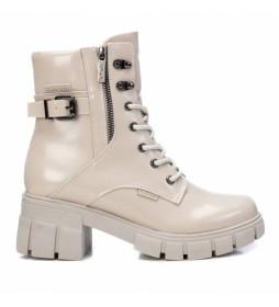 Botas con tacón 078998 blanco - Altura tacón 6cm -