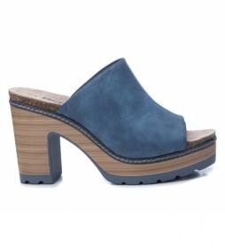 Sandalias 069496 azul -Altura del tacón: 10 cm-
