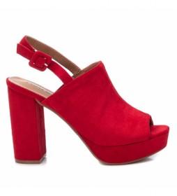 Sandalias 069536 rojo -Altura del tacón: 11 cm-