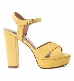 Sandalias 069837 amarillo  -altura tacón: 12cm-
