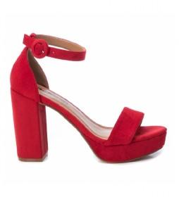 Sandalias 072225 rojo  -altura tacón: 11cm-