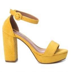 Sandalias 072225 amarillo -Altura del tacón: 11 cm-