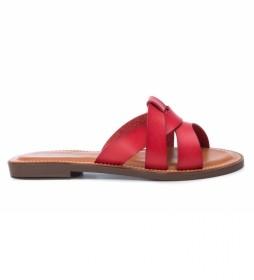 Sandalias 072247 rojo