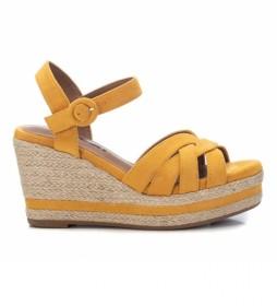 Sandalias 072636 amarillo -Altura cuña: 9cm-