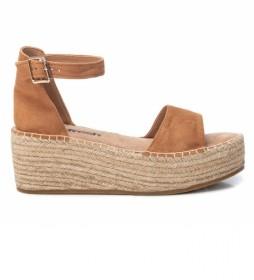 Sandalias 072904  marrón -Altura cuña: 7cm-