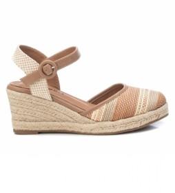 Zapatos Alpargatas 072849 beige -Altura cuña: 7cm-