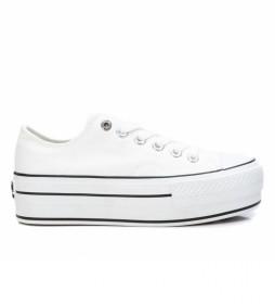 Zapatillas de plataforma 076549 blanco