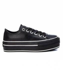 Zapatillas con plataforma 078997 negro