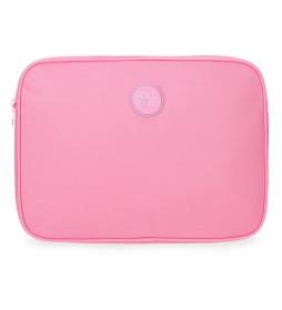 Funda para Tablet Roll Road rosa -30x22x2cm-