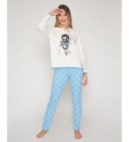 Pijama Bubble Fairy beige, azul