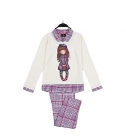 Pijama Santoro Gorjuss beige, multicolor