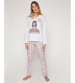 Pijama The Words gris, rosa