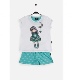 Pijama de Manga Corta Into the Ocean  blanco