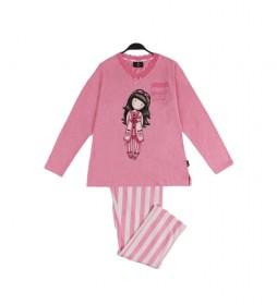 Pijama Manga Larga Goodnight Gorjuss rosa