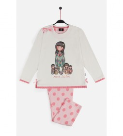 Pijama Manga Larga Seven Sisters crudo