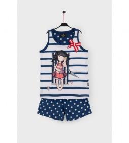 Pijama Tirantes Summer Days marino