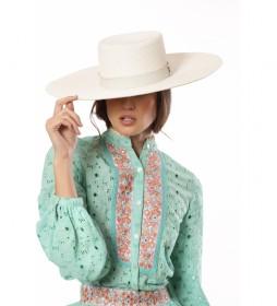 Camisa Perforada turquesa