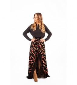 Falda Amarillo negro
