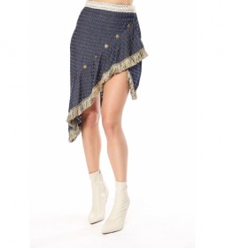 Minifalda Asimétrica Vaquera azul
